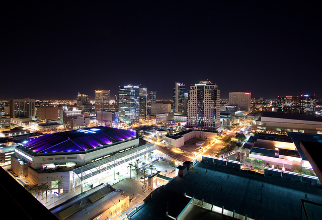 Downtown Phoenix Skyline Lights